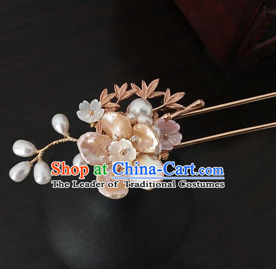 Traditional Handmade Chinese Ancient Classical Hair Accessories Pearls Hanfu Hairpins for Women