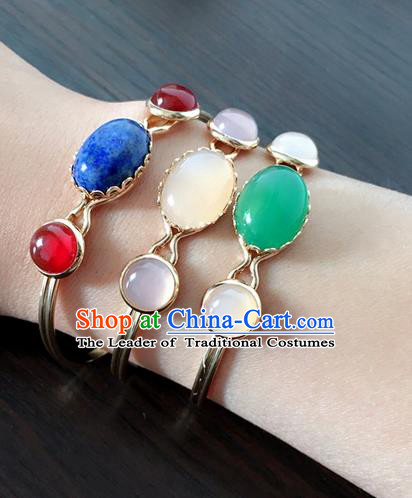 Traditional Handmade Chinese Ancient Classical Accessories Hanfu Bracelets for Women