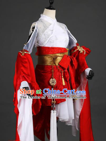 Chinese Ancient Young Lady Costume Cosplay Female Knight-errant Dress Hanfu Clothing for Women