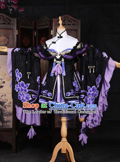 Chinese Ancient Young Lady Costume Cosplay Princess Swordswoman Dress Hanfu Clothing for Women