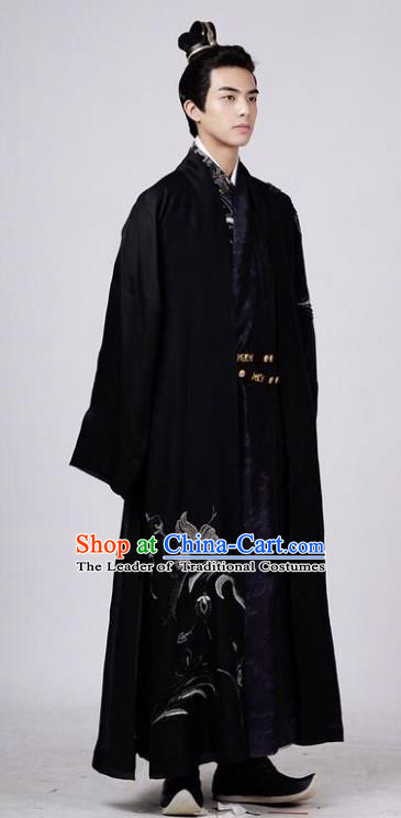 Traditional Chinese Ancient Nobility Childe Costume Untouchable Lovers Swordsman Knight-errant Rong Zhi Clothing for Men