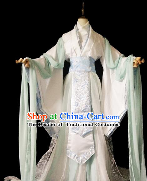 Chinese Ancient Cosplay Crown Princess Hanfu Dress Han Dynasty Female Knight-errant Costume for Women