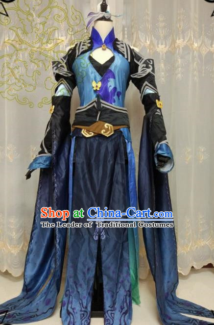 Chinese Ancient Cosplay Swordswoman Clothing Ming Dynasty Heroine Embroidered Costume and Boots for Women