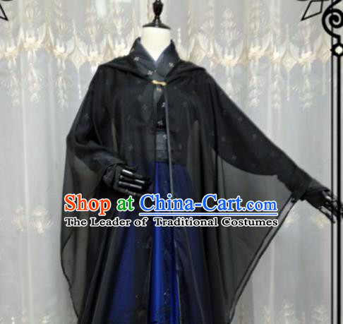 Chinese Ancient Nobility Childe Knight Costume Cosplay Swordsman Royal Highness Clothing for Men