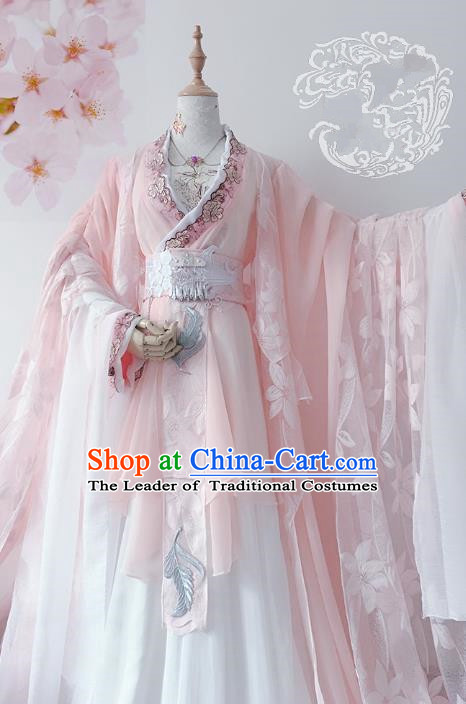 Chinese Ancient Costume Cosplay Imperial Concubine Clothing Tang Dynasty Palace Lady Embroidered Hanfu Dress for Women