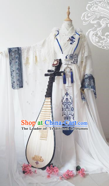 Chinese Ancient Costume Cosplay Imperial Empress Clothing Han Dynasty Queen Embroidered Hanfu Dress for Women
