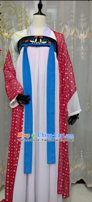 Chinese Ancient Court Maid Costume Cosplay Swordswoman Clothing Tang Dynasty Princess Hanfu Dress for Women