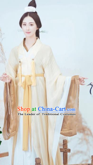 Traditional Chinese Ancient Imperial Concubine Hanfu Dress Jin Dynasty Princess Embroidered Costume for Women
