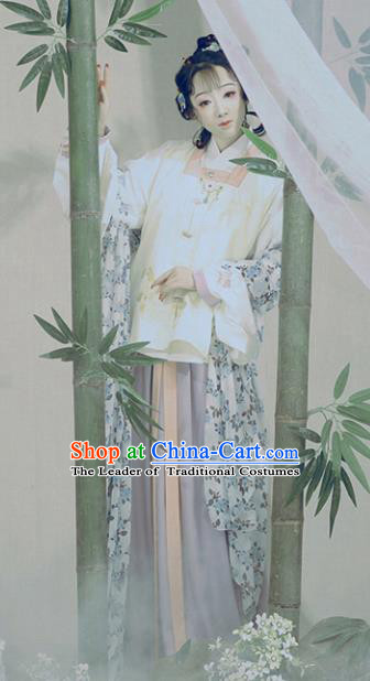 Chinese Ancient Nobility Lady Hanfu Dress Traditional Ming Dynasty Princess Embroidered Costume for Women