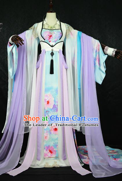 Chinese Ancient Cosplay Imperial Consort Costume Tang Dynasty Queen Embroidered Hanfu Dress for Women