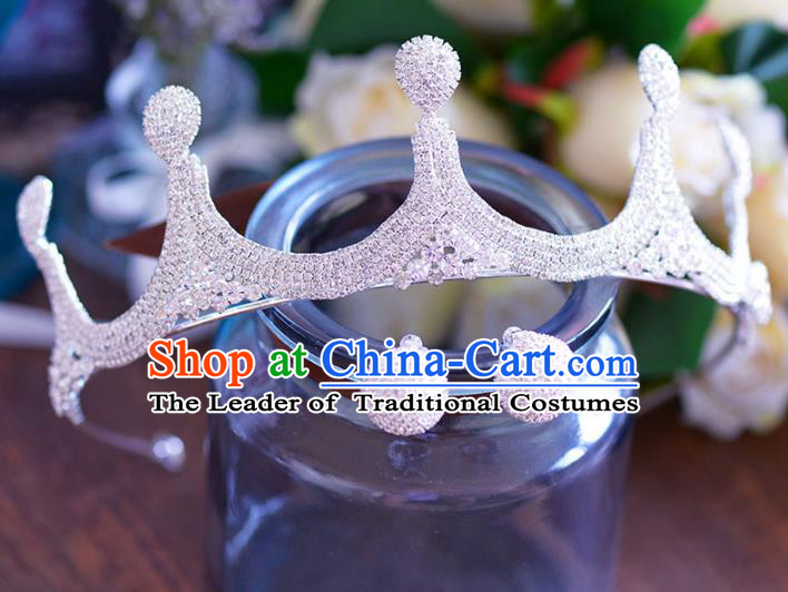 Handmade Baroque Style Hair Jewelry Accessories Bride Royal Crown Princess Imperial Crown for Women