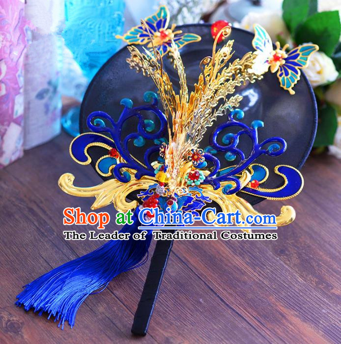 Chinese Handmade Jewelry Accessories Palace Fans Hanfu Round Fans for Women