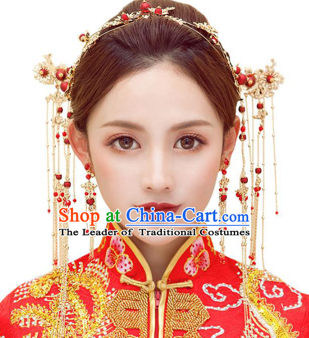 Chinese Ancient Handmade Hair Accessories Traditional Hairpins Complete Set for Women