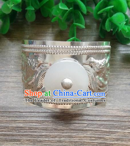 Handmade China Ancient Nobility Childe Hair Accessories Swordsman Argent Hairdo Crown Headwear for Men