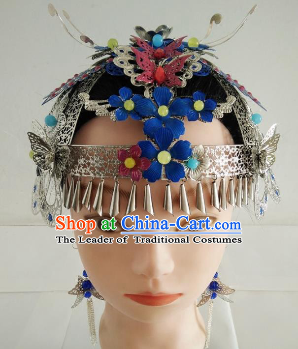 Ancient Chinese Handmade Phoenix Coronet Hair Accessories Classical Palace Queen Hairpins Headwear for Women