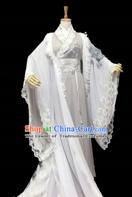 Chinese Ancient Cosplay Nobility Childe Scholar Costume Han Dynasty Swordsman Clothing for Men