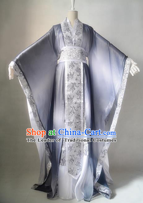 Chinese Ancient Cosplay Scholar Costume Han Dynasty Swordsman Clothing for Men