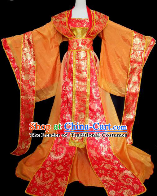 Chinese Ancient Cosplay Imperial Empress Red Hanfu Dress Traditional Tang Dynasty Queen Embroidered Costume for Women