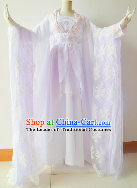 Chinese Traditional Tang Dynasty Princess Hanfu Dress Ancient Palace Lady Embroidered Costume for Women