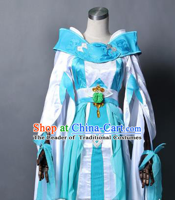 Chinese Traditional Ancient Female Warrior Clothing Cosplay Swordswoman Costume for Women