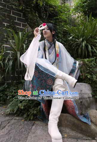Chinese Traditional Ancient Nobility Childe Clothing Song Dynasty Swordsman Costume for Men