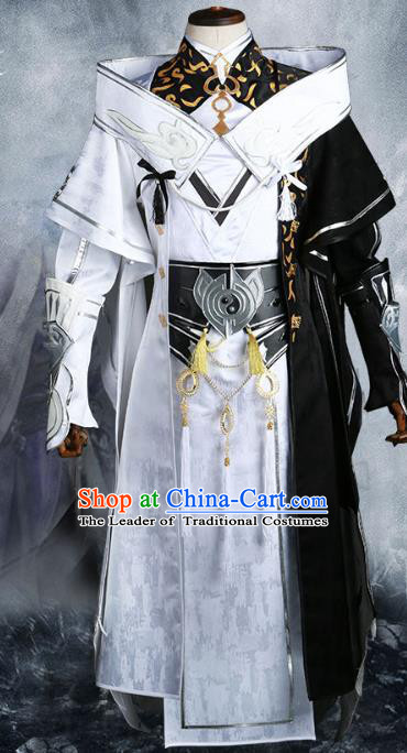 Chinese Ancient Nobility Childe Warrior Costume Cosplay Swordsman Clothing for Men