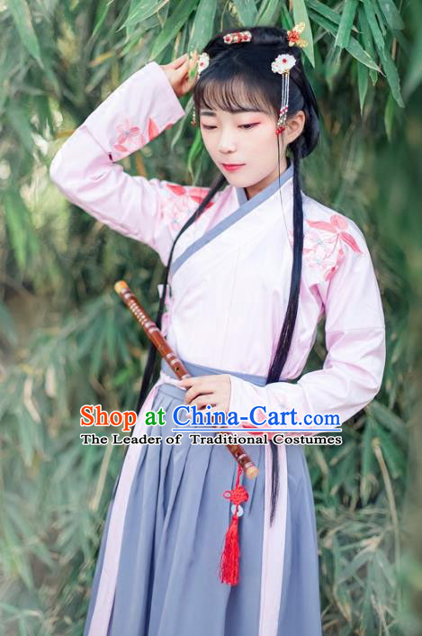 Chinese Traditional Ancient Song Dynasty Nobility Lady Costumes for Women