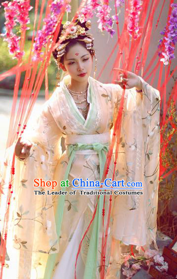 Chinese Ancient Cosplay Imperial Concubine Embroidered Costume Tang Dynasty Princess Hanfu Dress for Women