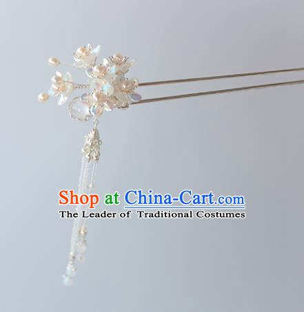 Chinese Ancient Handmade Hair Accessories Hanfu Hairpins Hair Clips Tassel Step Shake for Women