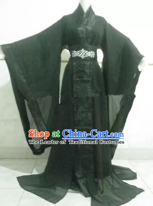 Chinese Han Dynasty Crown Prince Hanfu Ancient Swordsman Traditional Clothing for Men