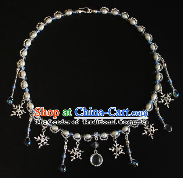 Chinese Ancient Handmade Pearls Necklace Accessories Hanfu Necklet for Women