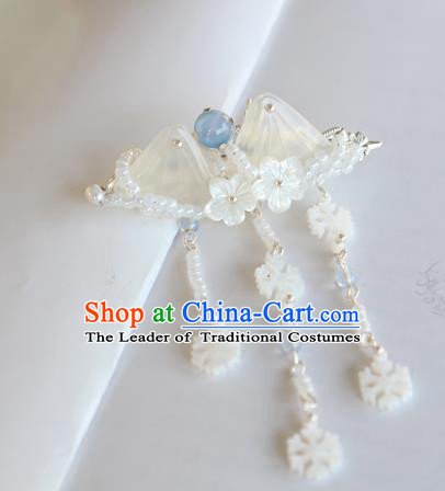 Chinese Ancient Handmade Palace Tassel Hair Stick Hair Accessories Hanfu Hairpins for Women