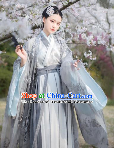 Chinese Ancient Palace Princess Costume Traditional Jin Dynasty Imperial Consort Embroidered Hanfu Dress for Women