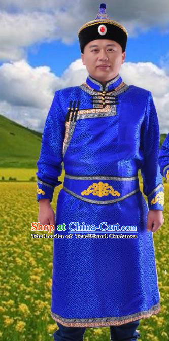 Traditional Chinese Mongol Nationality Dancing Costume Mongols Female Folk Dance Headwear Mongolian Minority Embroidery Costume