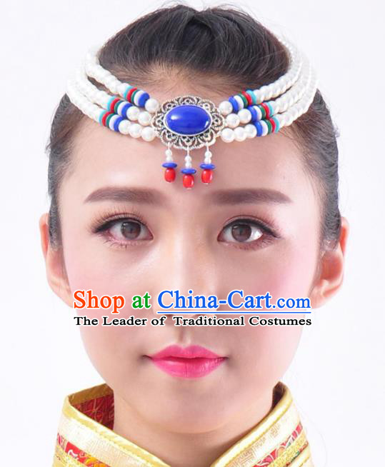 Chinese Handmade Mongol Nationality Hair Accessories Mongolian Minority Hair Clasp for Women