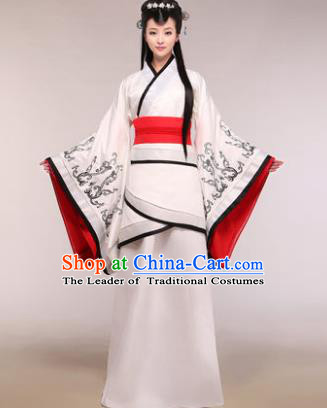 Traditional Chinese Han Dynasty Imperial Concubine Costume Ancient Princess Hanfu Dress for Women