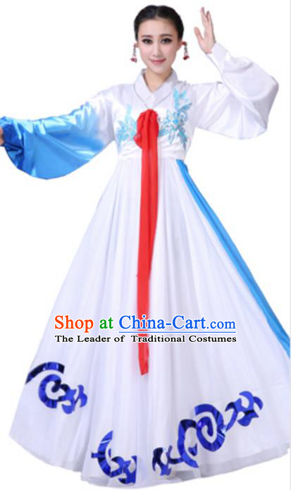 Traditional Chinese Korean Nationality Dance Dress, China Korean Minority Folk Dance Ethnic Costume for Women