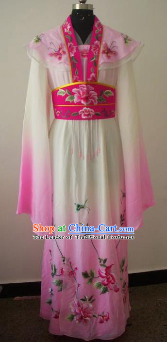 Chinese Traditional Beijing Opera Actress Costumes China Peking Opera Diva Embroidered Pink Dress for Adults