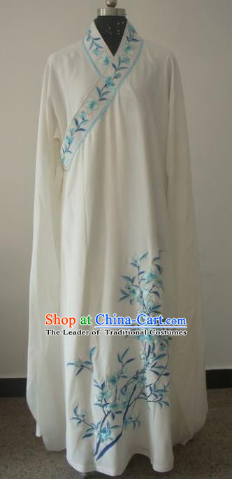 Chinese Traditional Beijing Opera Embroidered Peach Blossom Costumes China Peking Opera Niche Silk Robe for Adults