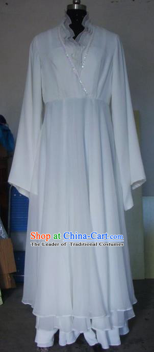 Chinese Traditional Beijing Opera Actress Costumes China Peking Opera White Dress for Adults