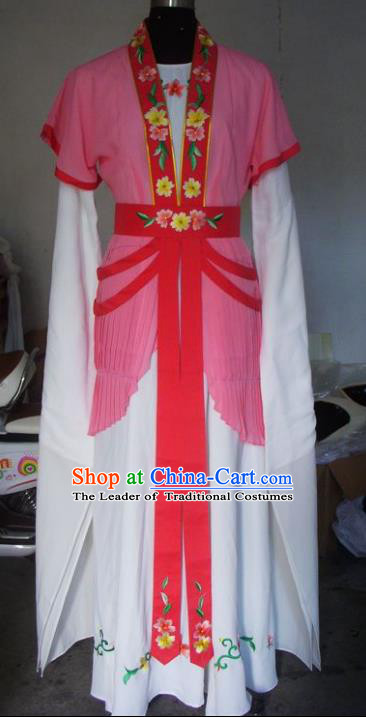 Chinese Traditional Beijing Opera Actress Costumes China Peking Opera Maidservants Pink Dress for Adults