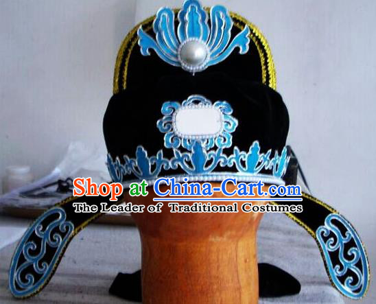 Chinese Traditional Beijing Opera Niche Scholar Hat for Men