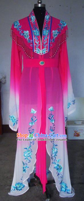 Chinese Traditional Beijing Opera Young Lady Costumes China Peking Opera Diva Rosy Dress for Adults