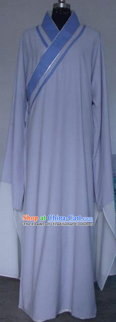 Chinese Traditional Beijing Opera Scholar Costumes Niche Embroidered Purple Robe for Adults