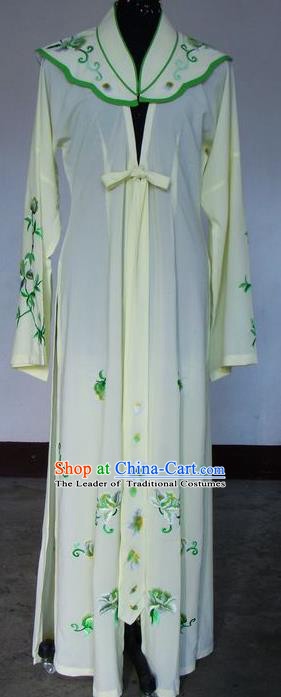 Chinese Traditional Beijing Opera Actress Yellow Cloak China Peking Opera Embroidered Costumes for Adults