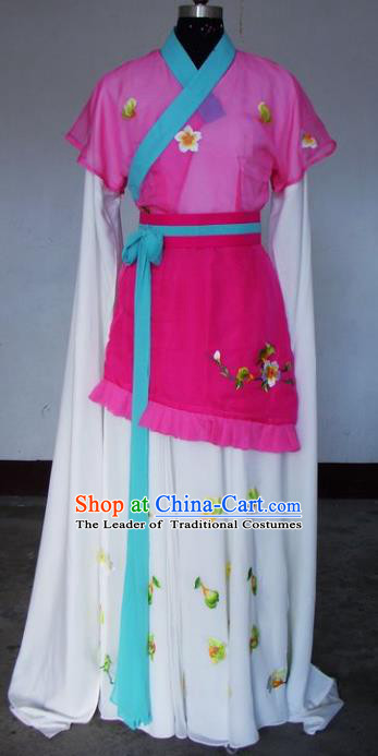 Chinese Traditional Beijing Opera Actress Rosy Dress China Peking Opera Embroidered Chrysanthemum Costumes for Adults