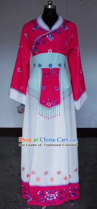 Chinese Traditional Beijing Opera Actress Rosy Costumes China Peking Opera Embroidered Dress for Adults