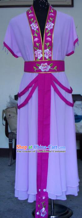 Chinese Traditional Beijing Opera Actress Purple Dress China Peking Opera Princess Embroidered Costumes for Adults