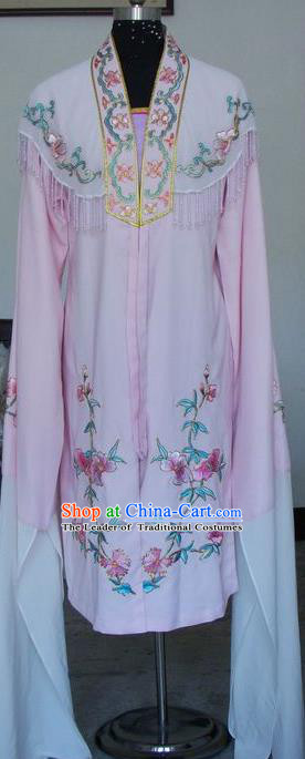 Chinese Traditional Beijing Opera Actress Pink Water Sleeve Dress China Peking Opera Princess Embroidered Costumes for Adults