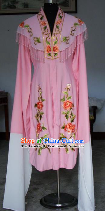 Chinese Traditional Beijing Opera Actress Pink Dress China Peking Opera Princess Water Sleeve Costumes for Adults